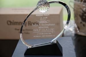 Trophy at the Memorial Golf Tournament