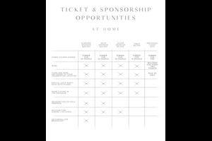 Gala sponsorship levels