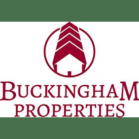 Logo for RRH Gala sponsor, Buckingham Properties.