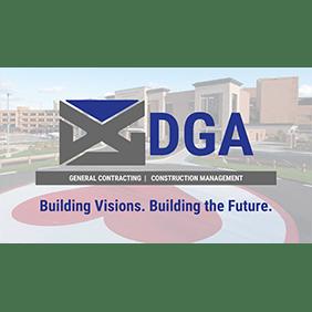 Logo for RRH Gala sponsor, DGA.